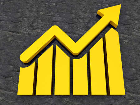 Business Growth - bar chart graph growing up