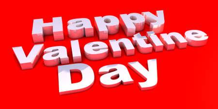 Happy valentine text render