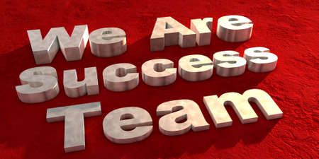 We are success team text render