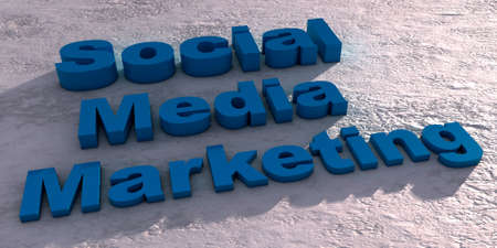Social media marketing rendered with computer graphic.