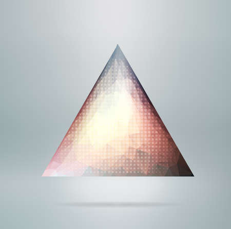 Abstract vector polygonal  triangle