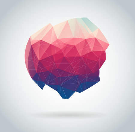 Abstract geometric vector polygon background Illustration
