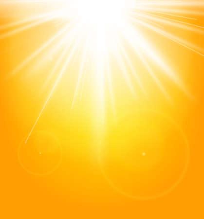 hintergrund himmel: Sommer nat�rlichen Hintergrund mit Sonne Illustration
