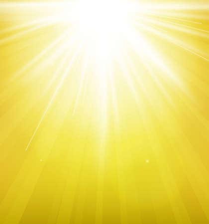 レンズで太陽をフレアします。
