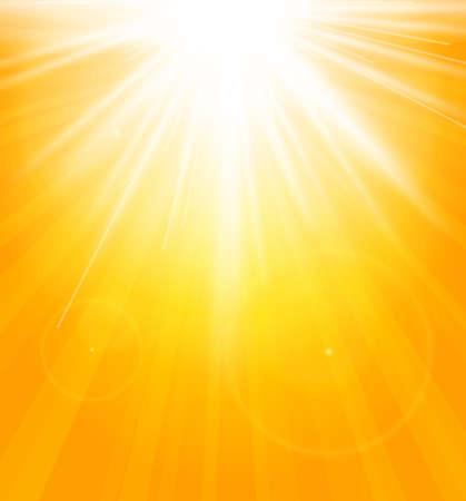 太陽バースト レンズフレアと夏の背景