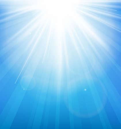 夏の太陽と抽象的な背景のバースト