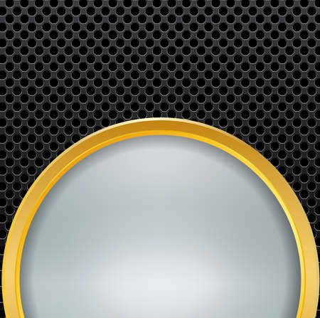 metallic: Abstract background gold metallic and blurred , vector illustration.