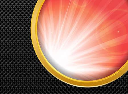 metallic: Abstracte achtergrond goud metallic en zonlicht, vector illustratie. Stock Illustratie