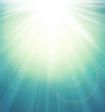 burst background: Abstract Background with a summer sun burst and lens flare