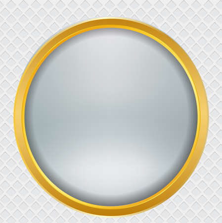 gold metal: Metal Abstract background gold button , vector illustration