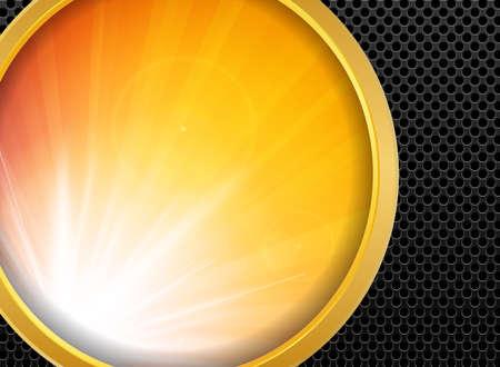 metallic background: Abstract background gold metallic and sunlight , vector illustration. Illustration