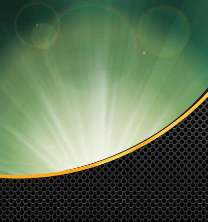 metallic  sun: Abstract background gold metallic and sunlight , vector illustration. Illustration