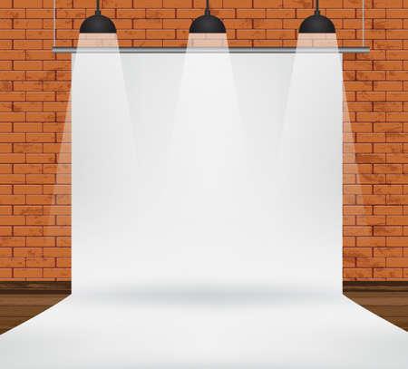 backdrop: White backdrop Vector illustration