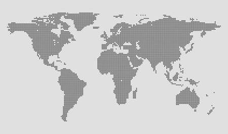 square detail: High Detail Dots Square World Map Illustration Illustration