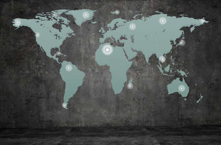World maps and wall texture background