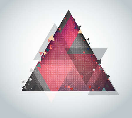 Triangles designs abstract background Illustration