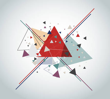Vector abstract with triangle on gray background