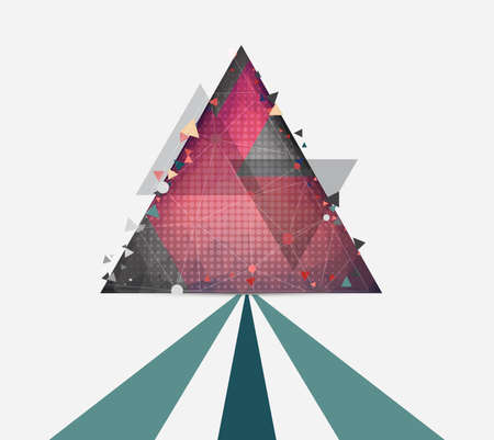 Vector abstract background with triangle and line Illustration