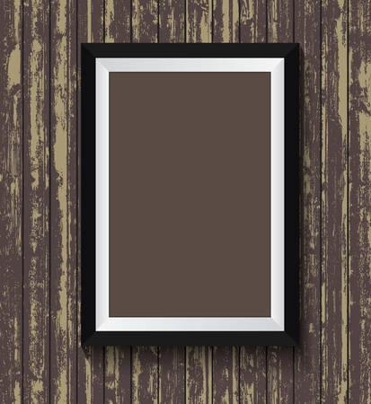 old wood texture: Black frame on old wood texture background design