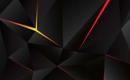 Abstract geometric triangle shape with light flare on background.  illustration Illustration