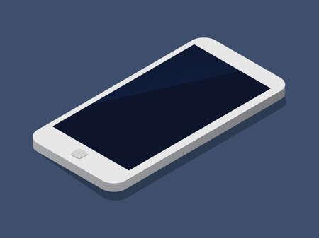 Flat 3d isometric phone trendy style business, illustration