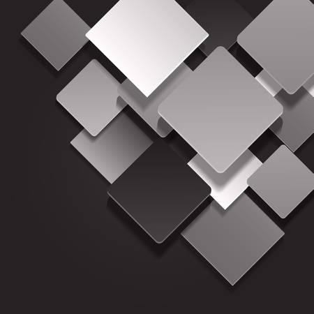 Abstract geometric shape on background. illustration. Illustration