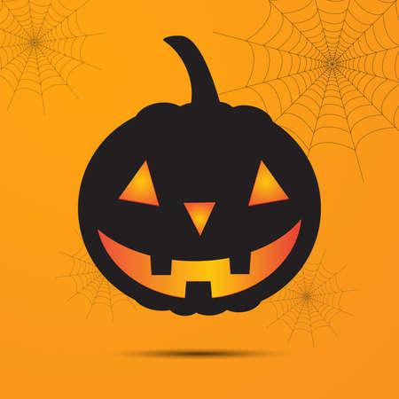 Happy halloween with pumpkin. Illustration