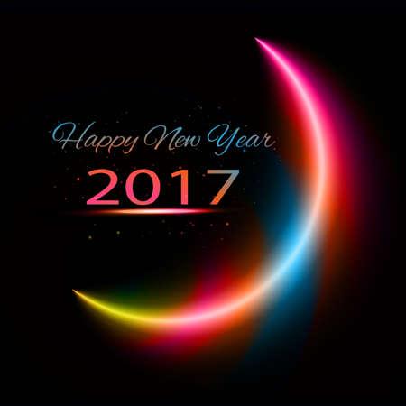 new year celebration: Happy New Year Celebration colorful background