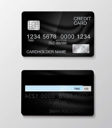 Modern realistic credit card money payment symbol. Vector illustration
