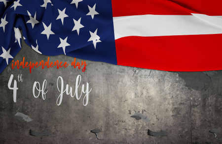 American flag Memorial Day or 4th of July on background Stock Photo