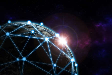Global network  Internet Concept of global business from concepts series and connection symbols communication lines. Elements of this image furnished