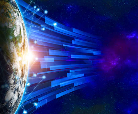 Global network  Internet Concept of global business from concepts series and connection symbols communication lines. Elements of this image furnished by NASA