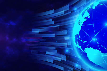 Global network  Internet Concept of global business from concepts series and connection symbols communication lines.
