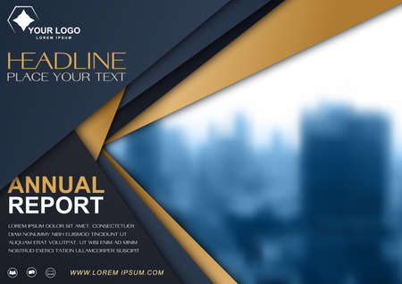 Brochure  design template, cover presentation abstract, annual reports layout. Illustration