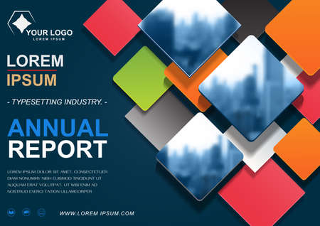 Brochure design template, cover presentation abstract, annual reports layout.
