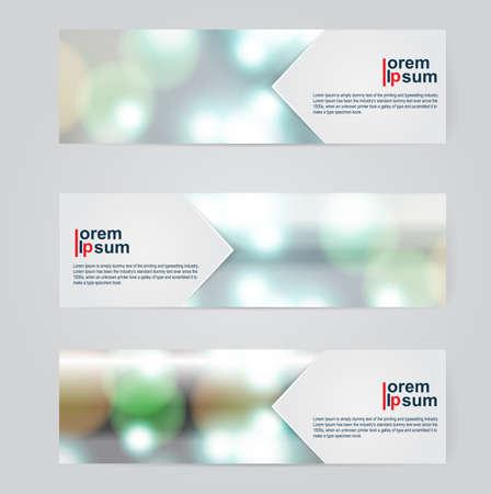 A set of modern vector abstract design banner web template.