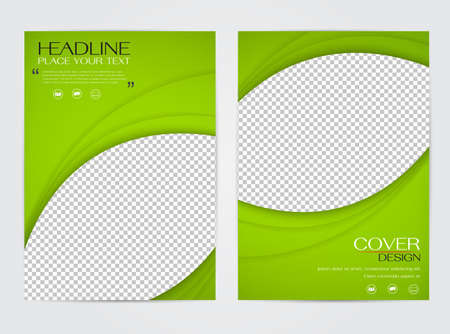 Brochure flyer design template vector, cover presentation abstract background, annual reports layout Illustration