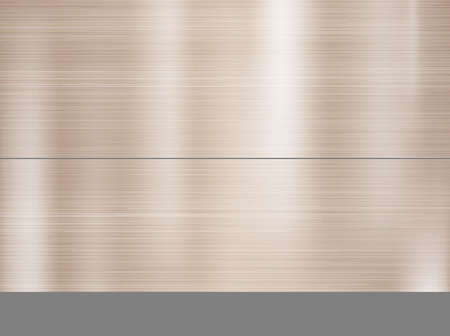 Metal, stainless steel texture background with reflection. Vector Illustration Illustration