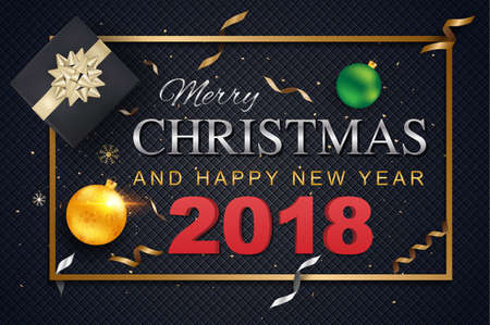 Holiday greeting card with colored text.