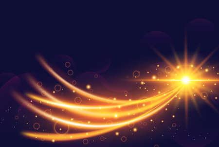 未来の光効果ベクトル図