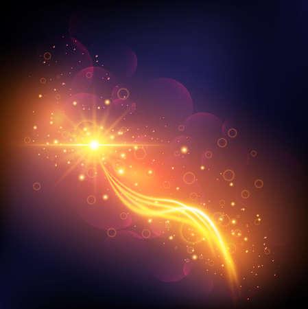 未来光効果抽象的な背景ぼやけて魔法ネオン曲線