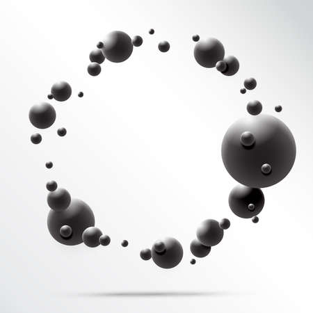 Abstract 3D Sphere design. 3d molecules concept, Atoms. on white background. Vector Illustrator