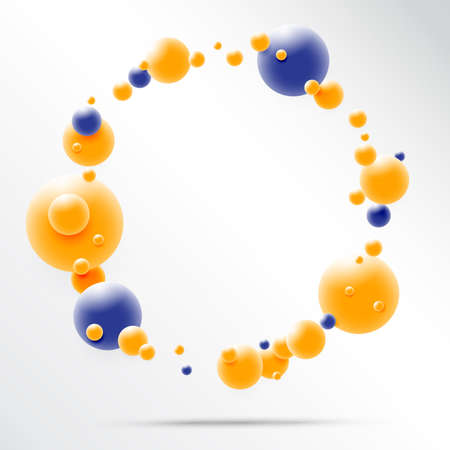 Abstract 3D Sphere design, 3d molecules concept, Atoms  on white background. Vector illustration.