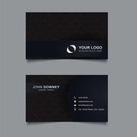 Vector abstract creative business cards Template Double sided. Vector Illustration.   イラスト・ベクター素材