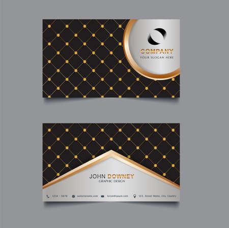 Vector abstract creative business cards Template Double sided. Vector Illustration.