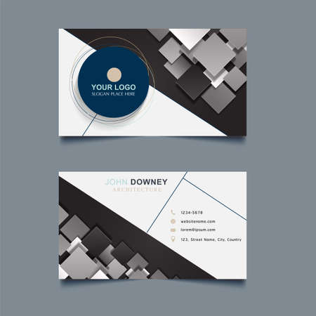 Modern Creative Business Card Template Double sided. Vector Illustration.