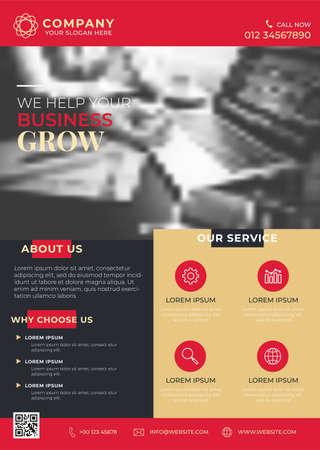 Business Flyer Brochure Design Template  イラスト・ベクター素材
