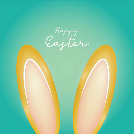 Happy Easter day celebration party. For banner, greeting card, social media advertising. Vector illustration