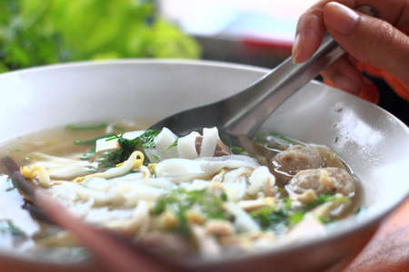 Thin noodles Thailand photo
