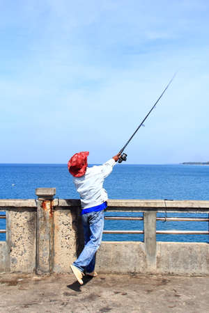 fishing at the sea  photo
